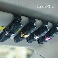 Grampo suporte de caneta de fibra de carbono  clipes de óculos para carro  de 180 graus de rotação  dois lados  organizador  acessório para veículo clipes clipes