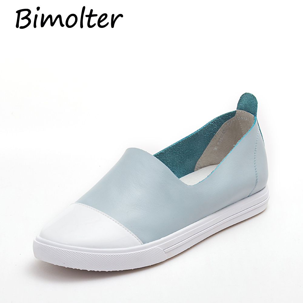 Bimolter Simple Styles Fashion Casual Loafers Super Soft Asli Sepatu - Sepatu Wanita - Foto 4