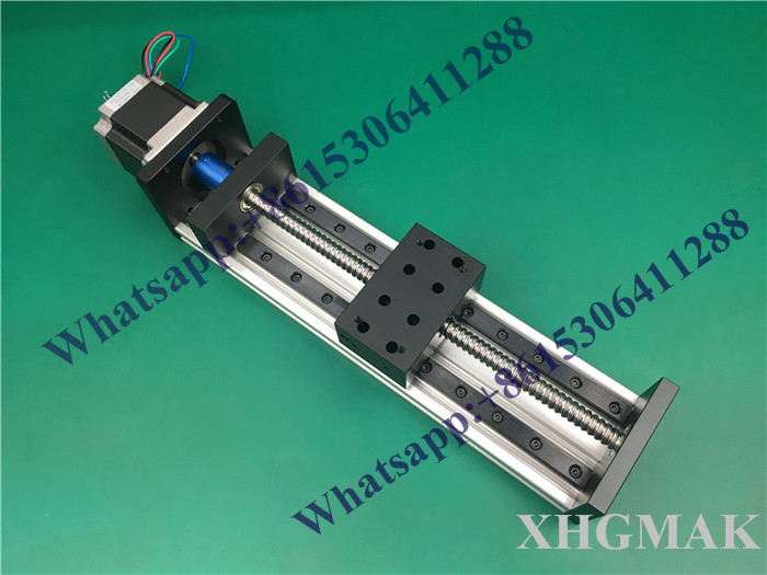 High Precision GX80*50mm Ballscrew 1605-800mm Effective Travel+Nema 23 Stepper Motor Stage Linear Motion single block su gx 5s r