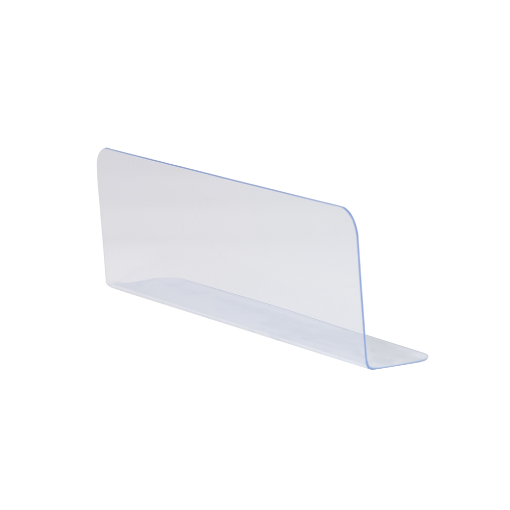 450mm Plastic L Shape Commodities Divider Fixture Shelf Merchandise Guard Strip Shelf Rack Accessories
