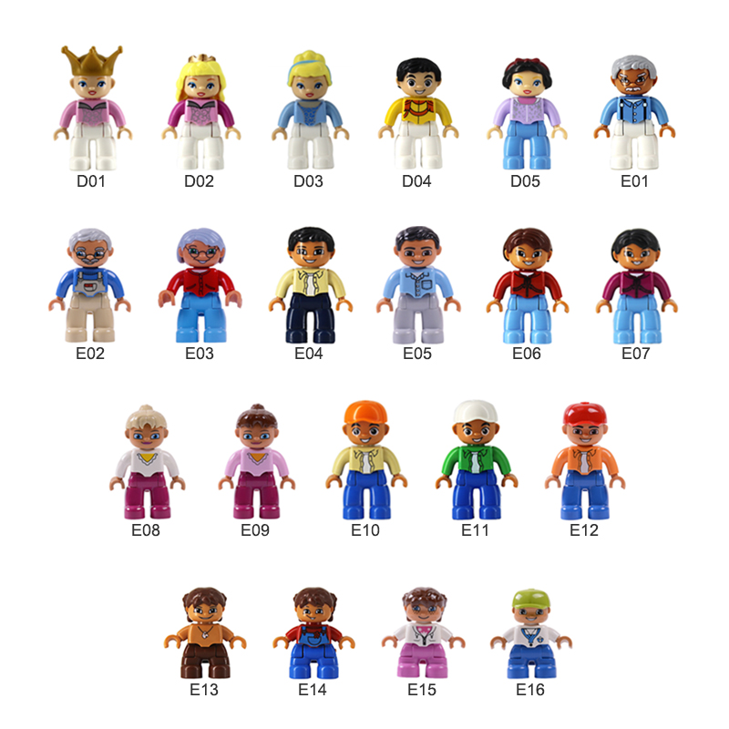 Big Size Building Blocks Character Family Set Figures Royal Series Compatible With Duplo Bricks Education Toys For Children.