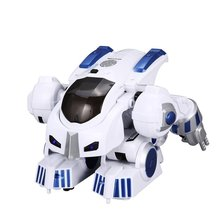 Intelligent Robot Fingerprint Deformation Police RC Robot Walking Dancing With English Music Educational Remote Control Toys(China)