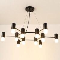 Черный светодиодный акриловый абажур, современная люстра для столовой, люстра со светодиодным освещением, подвесные потолочные светильник