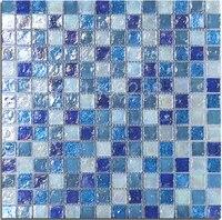 Mediterraneo Blu colore di puzzle mosaico di Cristallo di vetro autoadesivo, cucina backsplash, bagno, casa della decorazione della parete materiale, LSLL02