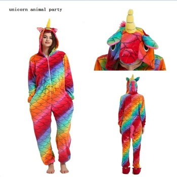 Onesie Kigurumi franela cremallera estrella color pescado escamas unicornios Unisex adulto pijamas Cosplay disfraz Animal pijamas pokemon