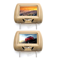 2 pcs car monitors 7 inch Car Headrest MP4 Monitor / Multi media Player / Seat back MP4 / USB SD MP3 MP5 FM Built in Speakers