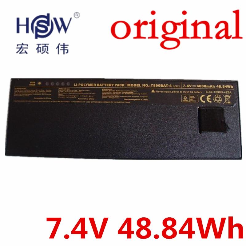 HSW 7.4V 48.84Wh   Battery FOR CLEVO T890 6-87-T890S-4Z6A,T890BAT-4,T890BAT-4(SCUD) bateria akku original rechargeable clevo w370bat 8 li ion battery 6 87 w370s 4271 6 87 w37ss 427 k590s laptop battery 14 8v 5200mah 76 96wh
