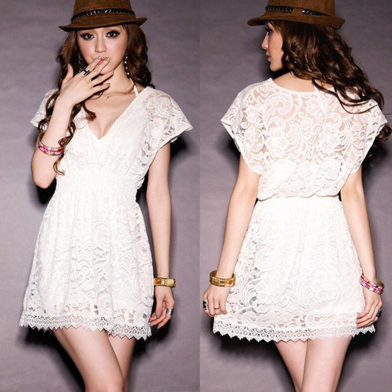 white spring dress - Dress Yp
