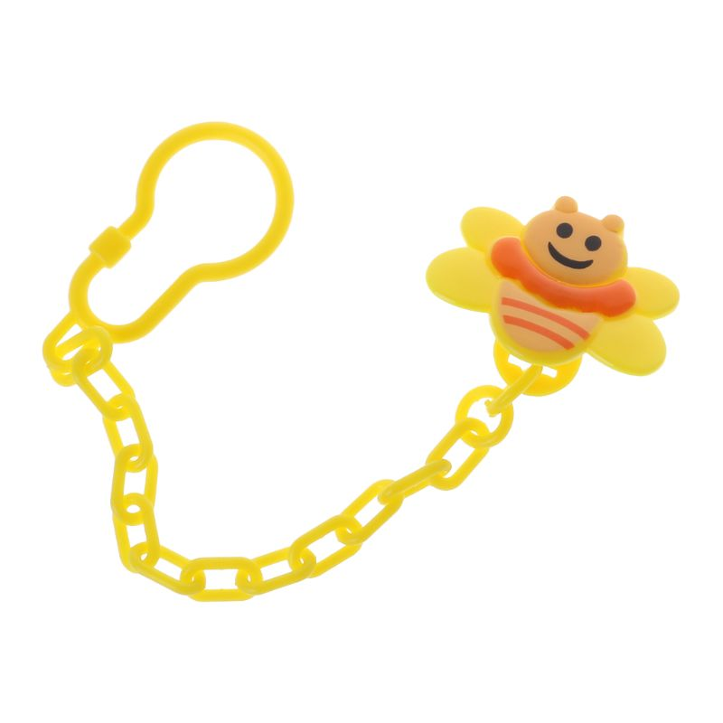 Baby Pacifier Clip Cartoon Bee Cute Chain Nipple Holder Teething Care Newborn Soother Teether Clips Hook Dummy Portable Supplies