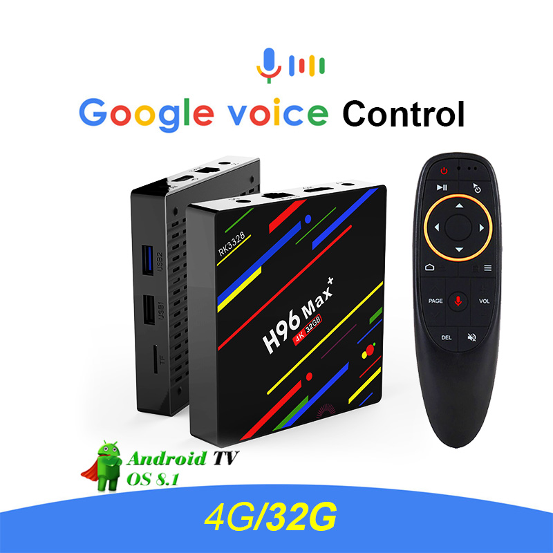 2018 New H96 MAX+ Google Voice Control Smart TV BOX Android 8.1 RK3328 Quad Core 4GB/32GB 4K VP9 H.265 WiFi 2.4G Media Player галина климова север юг