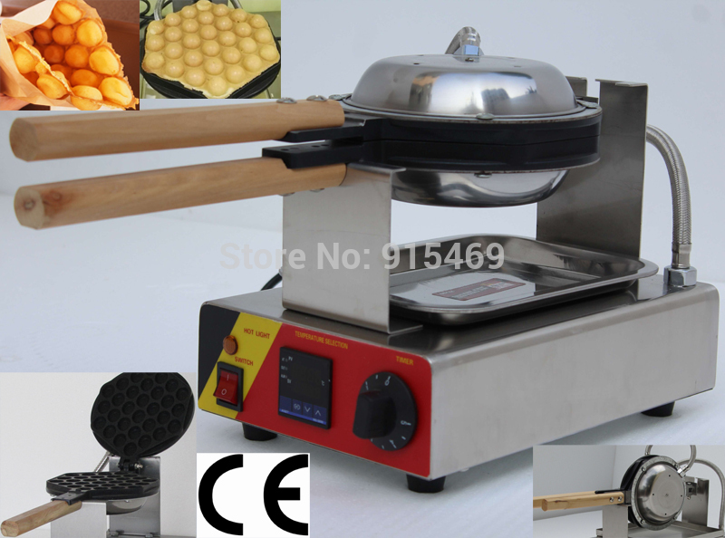 все цены на Free Shipping Commercial Use Non-stick 110v 220v Electric Digital Hongkong Eggettes Bubble Waffle Maker Iron Machine Baker Pan в интернете
