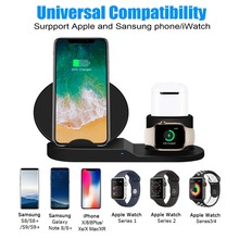 Wireless Charger, Compatible iph one 3-in-1 Replacement Charging Station for Xs/X Max/XR/X/8/8Plus/Watch