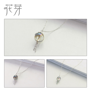 Image 5 - Thaya Original Elf House Design s925 Silver Window Necklace Colorful Crystal Bead Pendant Necklace for Women Classic Jewelry