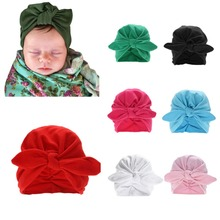 Baby Girls Boys Cute Soft Hats With Bow Children Spring Autu