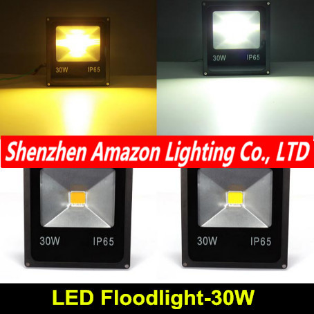 LED Flood Light 30W 85~265V waterproof IP65 foco projecteur COB Led Floodlight Outdoor Lighting Spotlight lexing lx tgd 5 30w 1900lm 7000k led white spotlight w stand black silver grey 85 265v