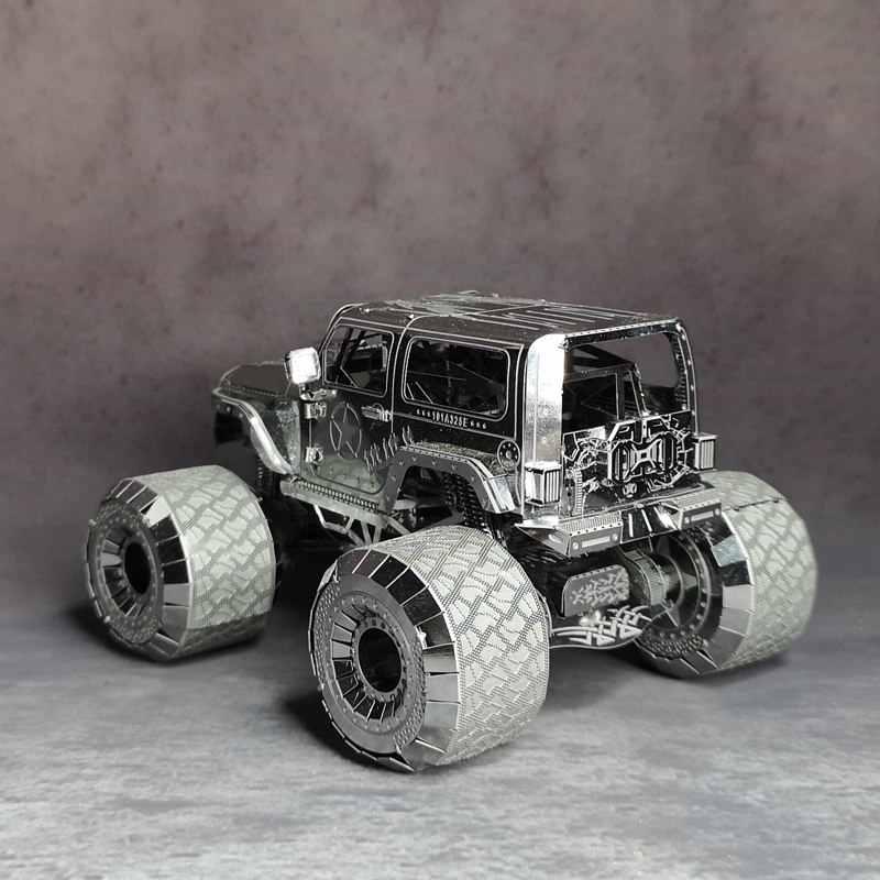 NANYUAN I32205 WARNGLER AUTO PUZZEL 4WD Jeep Metalen Montage Model Ontwikkelen hands-on vermogen 3 Vellen DIY auto model speelgoed