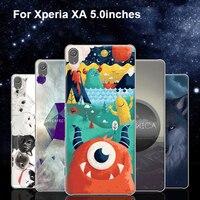2 ADET Ultra Ince Durumda Xperia Için XA F3116 Sevimli Karikatür Çiçek peri Kedi Telefon Kılıfları Için Geri Tam Kapak Sony XperiaXA F 3116