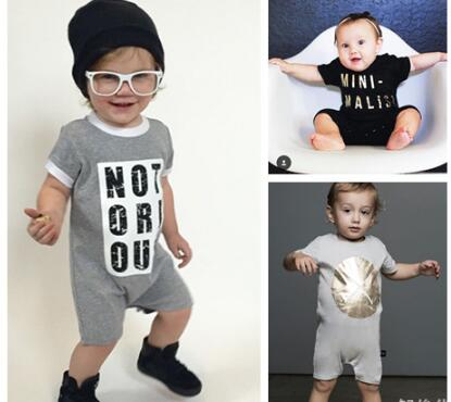 SR072 2017 new fashion boy's Short Sleeve Romper Newborn Baby Girl Clothes one - pieces Outfit kids clothes children clothing he hello enjoy baby girl clothes sets newborn short leopard grain baby bodysuit short sleeve romper hair band shoes