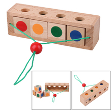 Montessori Wooden Box Toy For Children Improve Memory Educational Toy Baby Color distinguish Simple Intellectual Development Toy