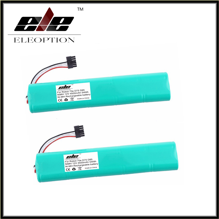 2 pcs <font><b>12V</b></font> 4500mAh <font><b>4.5Ah</b></font> NI-MH Eleoption New Replacement battery for Neato Botvac 70e 75 80 85 D75 D8 D85 Vacuum Cleaner battery image