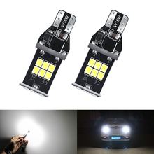 2x W16W LED Canbus T15 921 912 Back Up Reverse Light for Ford Fusion Focus 2 3 6000K Xenon White 12V day driving lights ijdm 6000k white powered by luxen led w16w led canbus error free t15 912 921 led bulbs for euro car back up reverse lights 12v