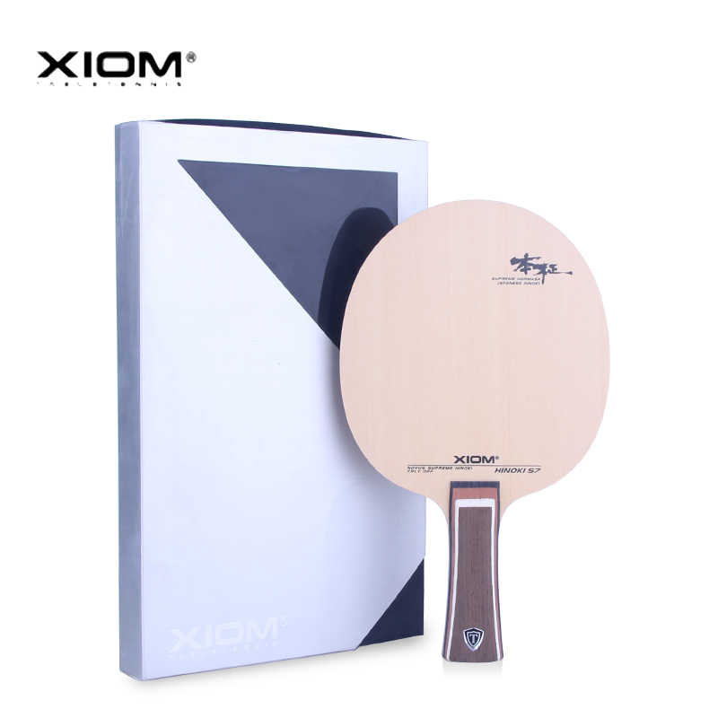 Genuine Xiom Hinoki S7 Table Tennis Blade Professional Racquet Sports Table Tennis Racket Cypress Pure Wood