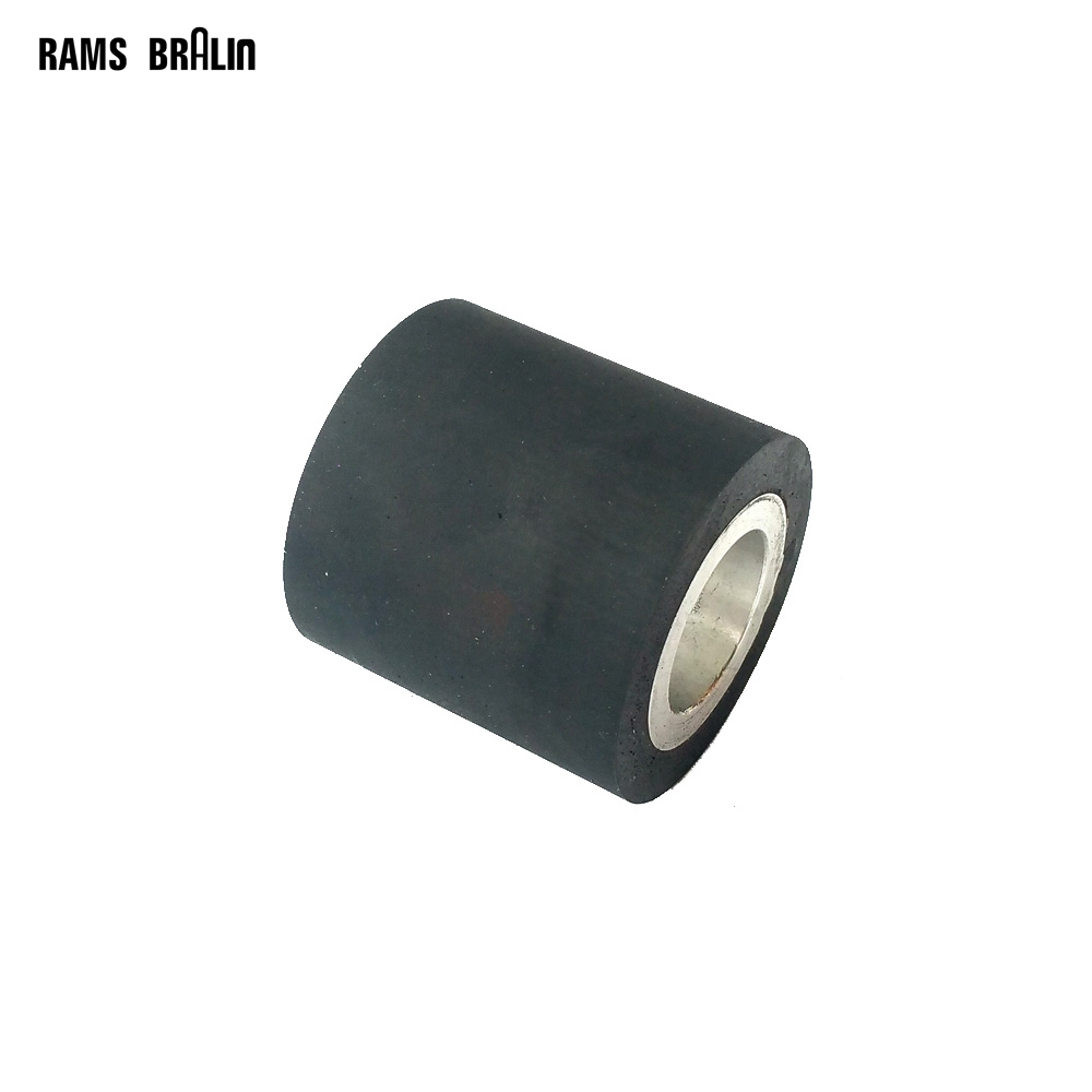 50*50mm  Solid Rubber Contact Wheel Belt Grinder Part 4 6 inch od diagonal rubber contact wheel belt grinder wheel abrasive belt set 50mm width