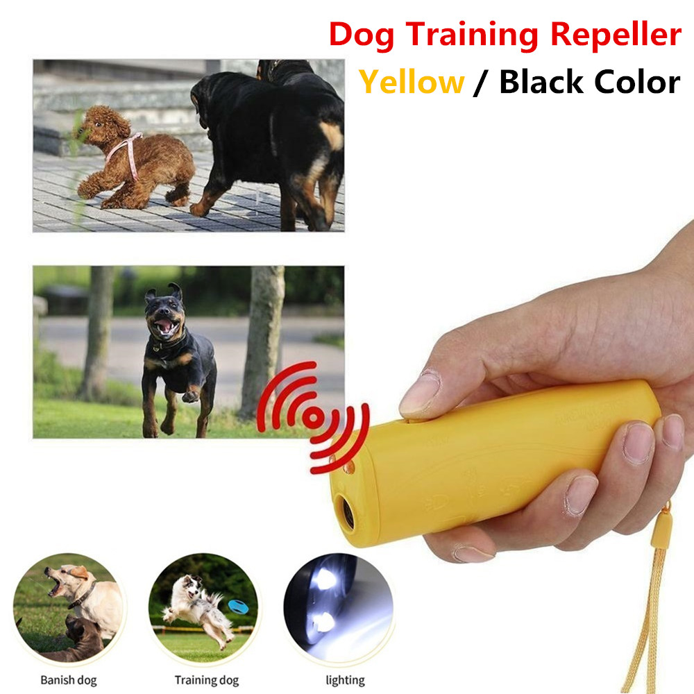 New Dog Repeller Ultrasound Pet Training Anti Barking Control Devices 3 in 1 Stop Bark Deterrents Trainer-0