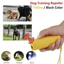 Novo cão repeller ultra som pet treinamento anti latido dispositivos de controle 3 em 1 parar casca dissuasiva trainer