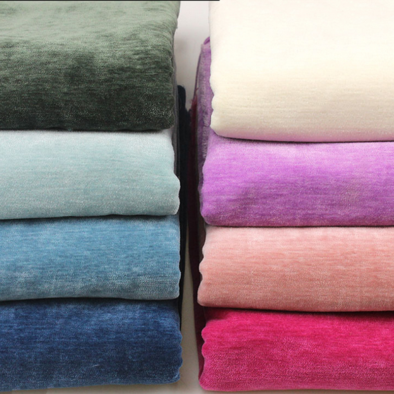 Chenille curtain cloth plain coloured flannel cloth sofa cover manual home textiles fabric 2 8m width