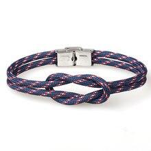 Новый мужской браслет плетеный веревочный женский очаровательный