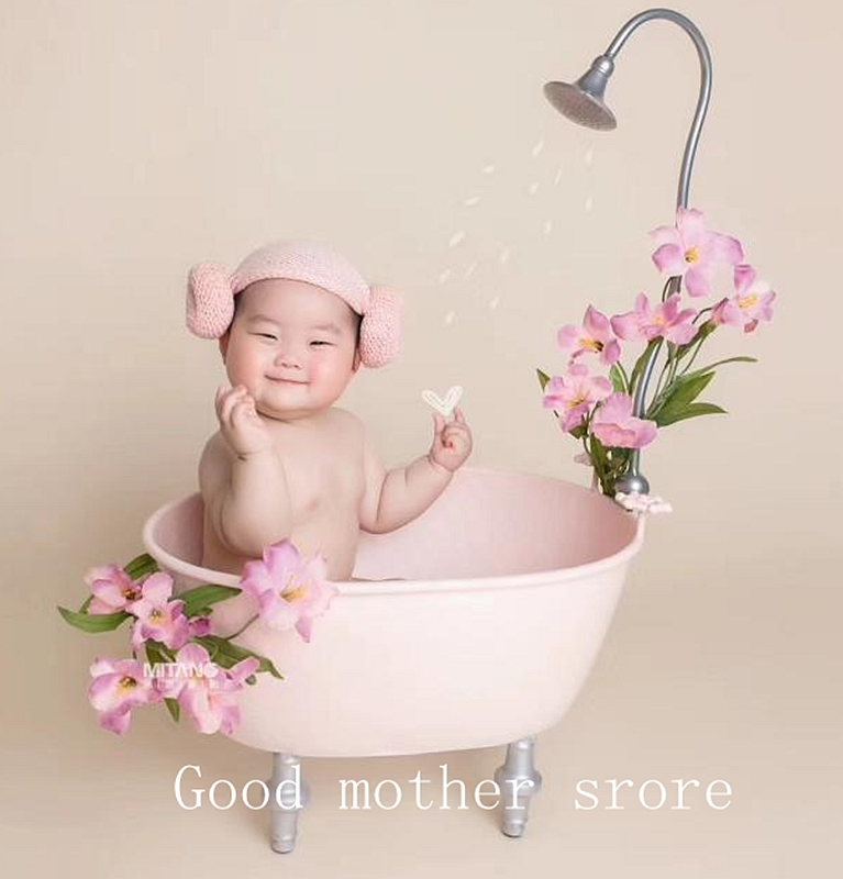 Newborn Photography Props Bathtub Newborn Iron Art Props Baby Photography Props Bebe Bathtub Shower