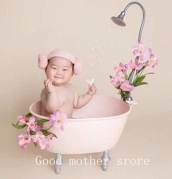 Newborn photography props bathtub newborn iron art props baby photography props bebe bathtub shower