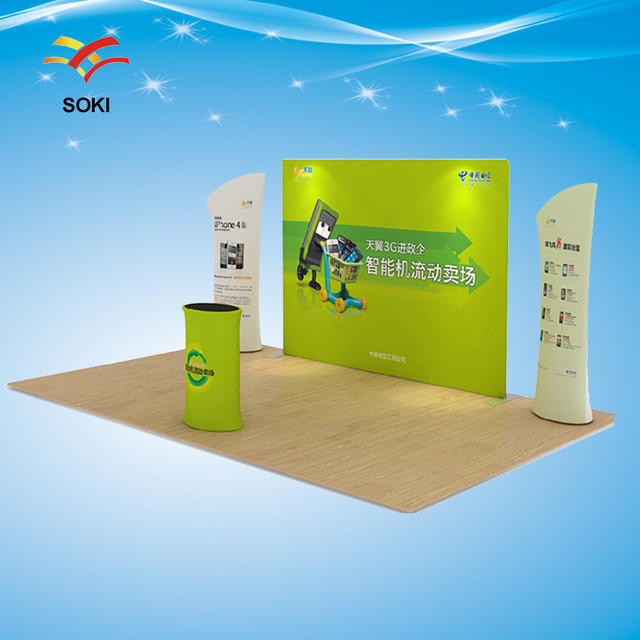 Fabric Exhibition Stand : 10ft tension fabric display trade show exhibition booth system stand