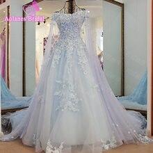 eab41b77a أنيقة أكمام تول يزين العروس فستان الزفاف الماس اللؤلؤ. Access الزفاف أثواب  Vestido دي Noiva