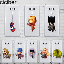 Ciciber DC Marvel For LG G7 G6 G5 G4 V40 V35 V30 V20 ThinQ Phone Case Silicone TPU K8 K10 K4 2017 2018 K9 K11 Plus Cover
