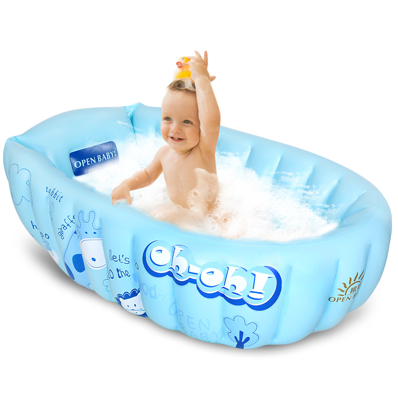 Baby Inflatable Bathtub Swimming Float Safety Wash Tub Swim Float Kids  Infant Portable Folding Bathtub Pool