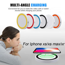 Portable Ultra-thin Qi Wireless Charger Power Charging Pad F