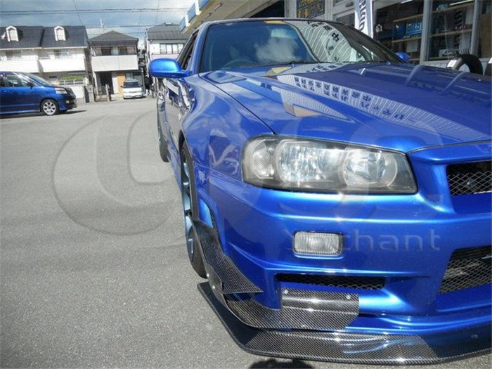 1999-2002 Nissan Skyline R34 GTR Auto-Select Front Diffuser Lip with Undertray CF (11)