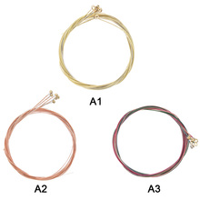 цена на 6 Pcs/Set Colorful Guitar Strings E-A Acoustic Folk Guitar Classic Guitar Accessories