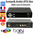 IPS2 IP-S2 Plus caixa & DVB-S2 iptv receptor de satélite + com 1 ano árabe iptv Europa iptv Uma assinatura do pacote 1000 + canais