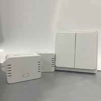 No Cabling White Light Switch Battery Free Button Can Control 2 Lamps High Quality That Can
