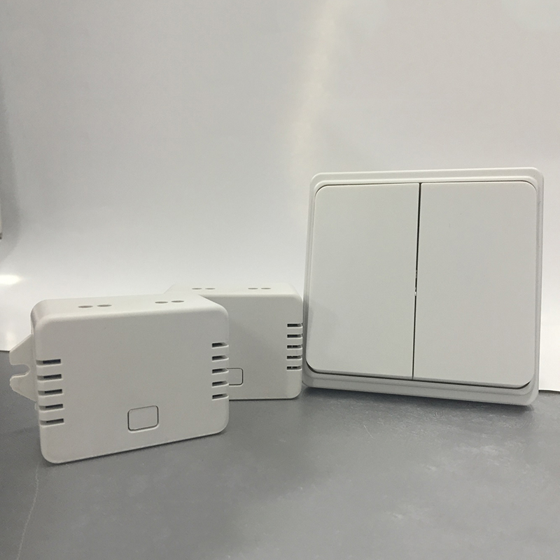 ФОТО No cabling white light switch, battery-free button can control 2 lamps, high quality that can be used over 8 years