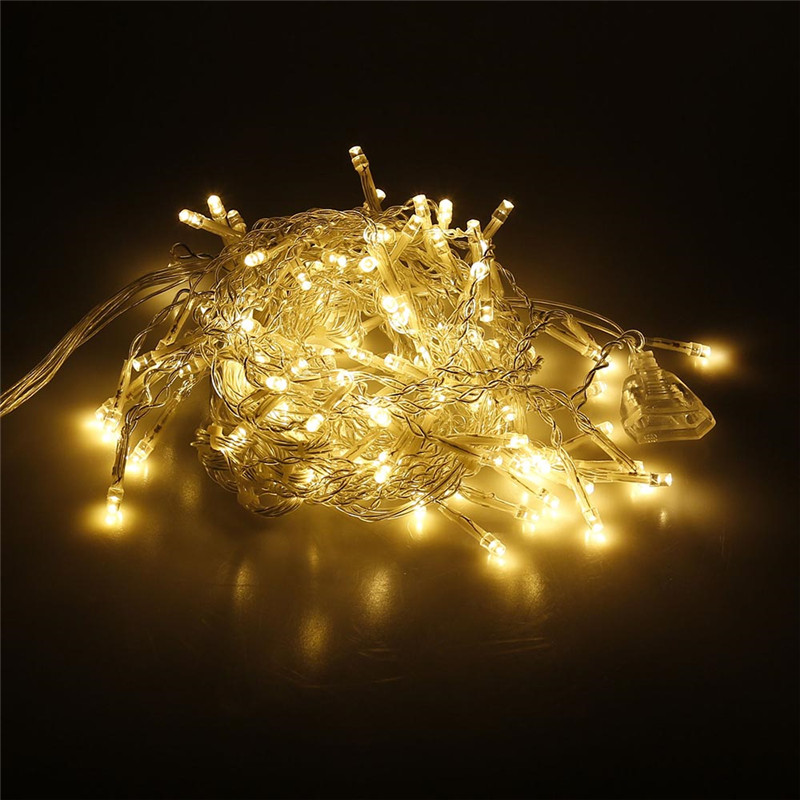 Image 5 - String lights Christmas outdoor decoration 5m Droop 0.4 0.6m curtain icicle string led lights EU 220V Garden Xmas Wedding Party-in LED String from Lights & Lighting on