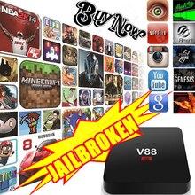 V88 Android 5.1 Smart TV Box Полный Загружено Rockchip 3229 1 Г/8 Г 4 К 2 К wi-fi Quad Core 1.5 ГГЦ Media Player MX PRO M8S X96 Set Top Box