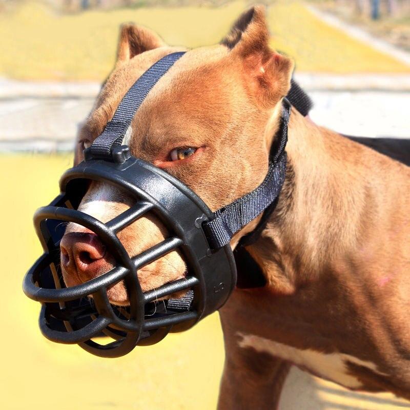 2 Colors Soft Silicone font b Pet b font Dog Muzzle Adjustable Anti biting Bark Dogs