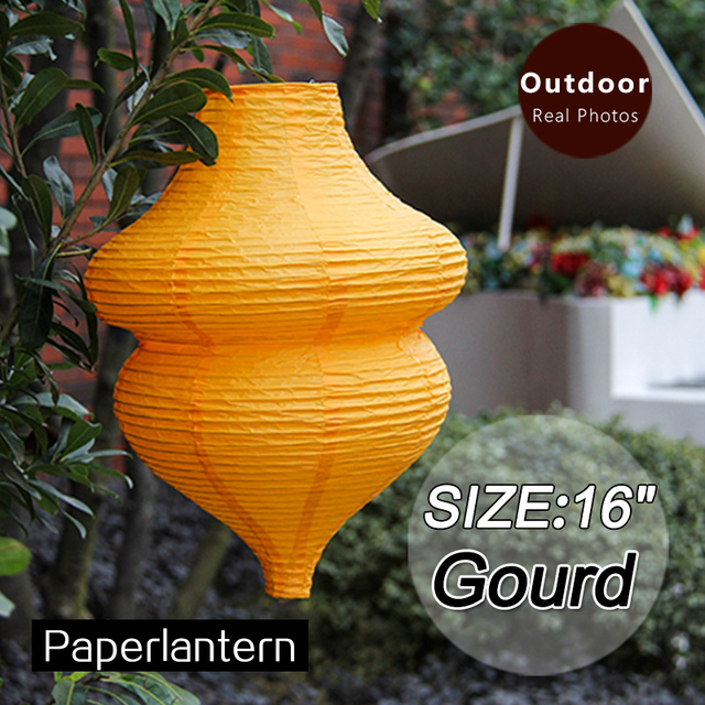 16chinese New Year Gourd Shape Paper Lanterns Birthday Wedding
