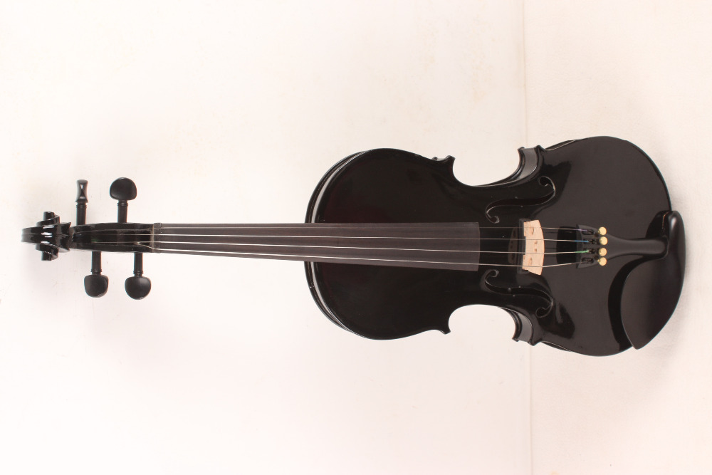 4-String 4/4 New Electric Acoustic Violin black #1-2481# handmade new solid maple wood brown acoustic violin violino 4 4 electric violin case bow included