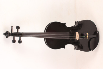 4-String 4/4 New Electric Acoustic Violin black #1-2481#