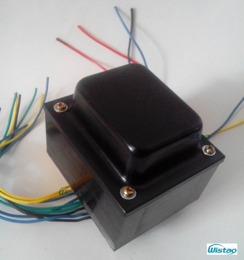 IWISTAO Tube Amp Power Transformer Primary AC120V x 2 Secondary 270Vx2/0.2A  3.15VX2/1.25A Silicon Steel Sheets